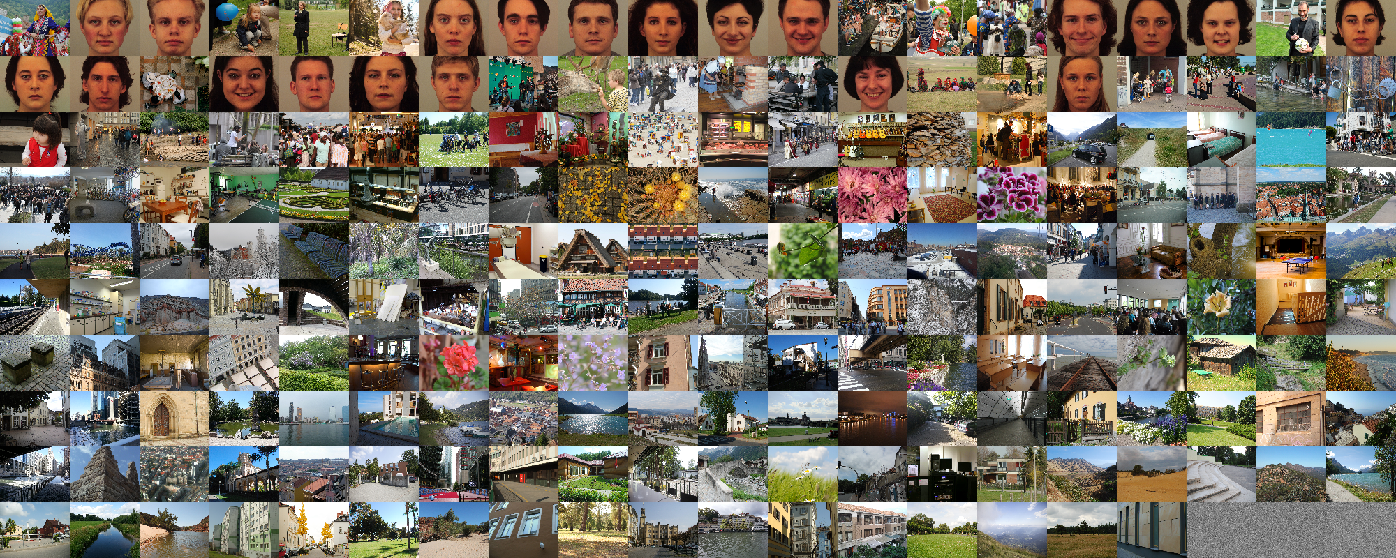 Images used in the eye-tracking experiment, sorted by their global visual salience, from left to right, and top to bottom.